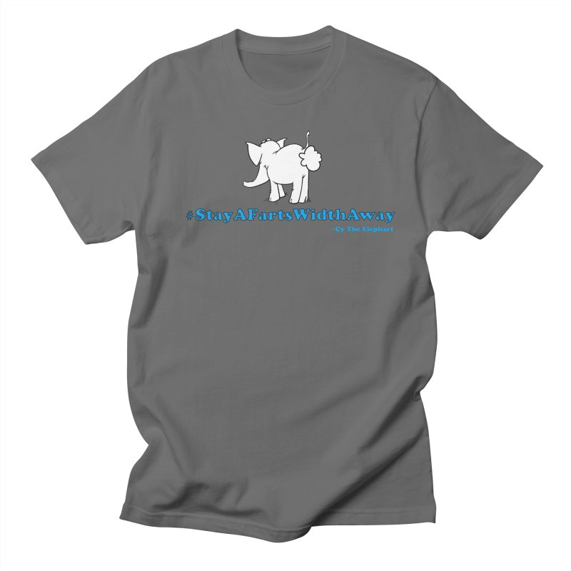 #StayAFartsWidthAway Back View Men's T-Shirt by Cy The Elephart's phArtist Shop