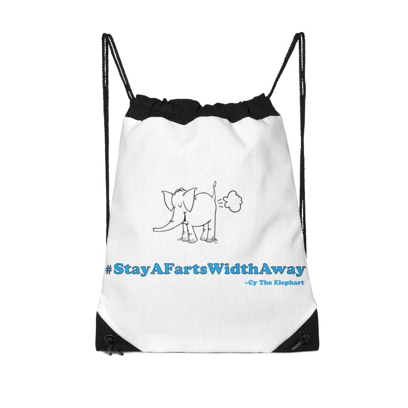 #StayAFartsWidthAway  Love Cy The ElephArt Accessories Bag by Cy The Elephart's phArtist Shop