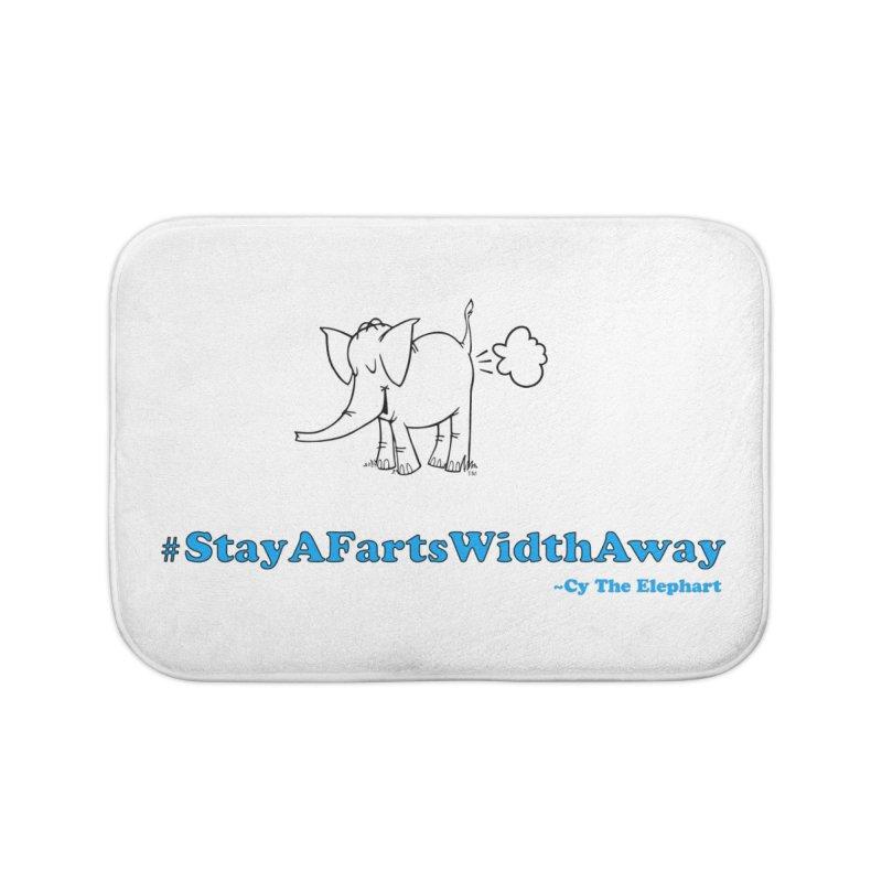 #StayAFartsWidthAway  Love Cy The ElephArt Home Bath Mat by Cy The Elephart's phArtist Shop
