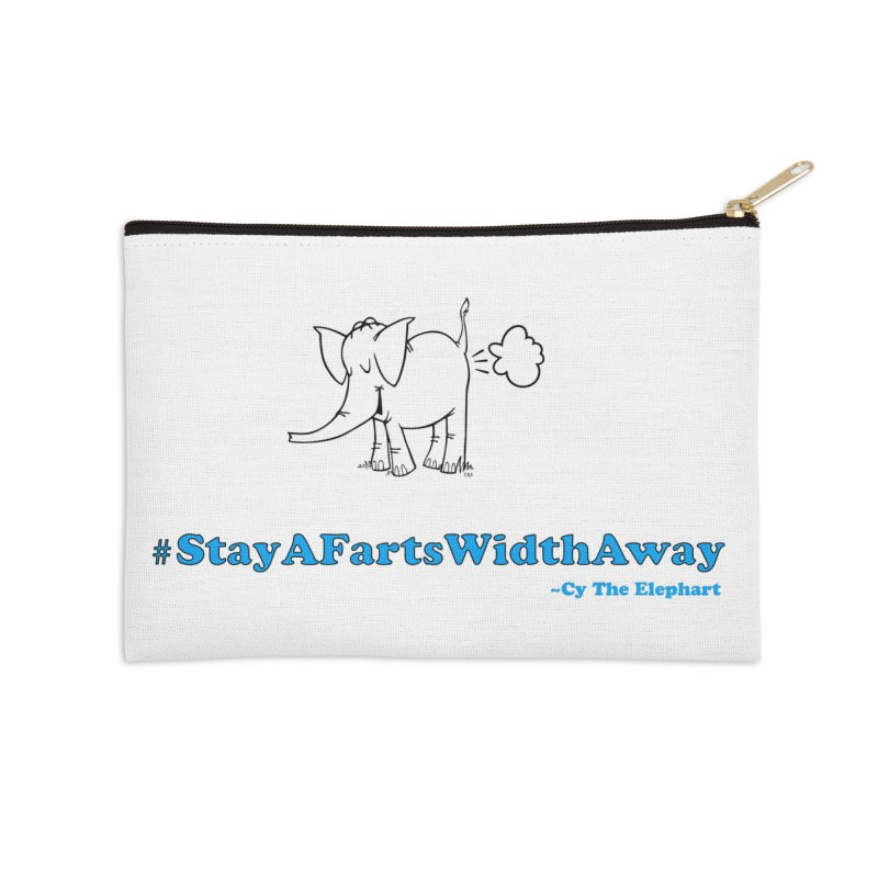 #StayAFartsWidthAway  Love Cy The ElephArt Accessories Zip Pouch by Cy The Elephart's phArtist Shop