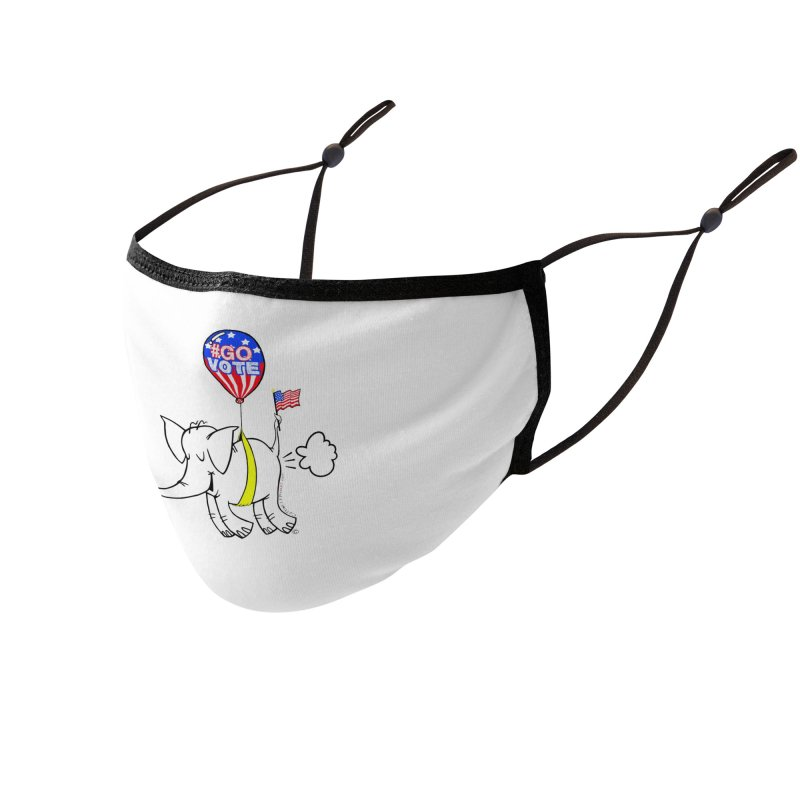 Go Vote with Cy The Elephart 2 Accessories Face Mask by Cy The Elephart's phArtist Shop