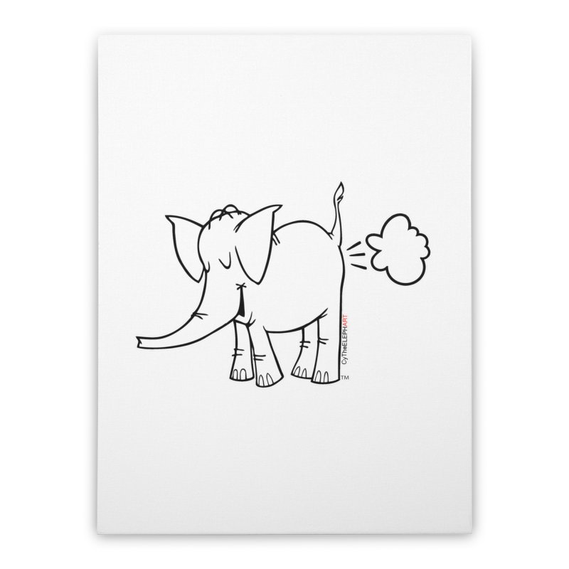 Cy The ElephArt Home Stretched Canvas by Cy The Elephart's phArtist Shop