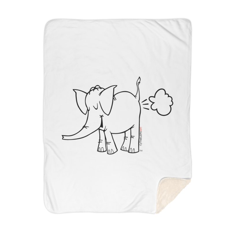 Cy The ElephArt Home Blanket by Cy The Elephart's phArtist Shop