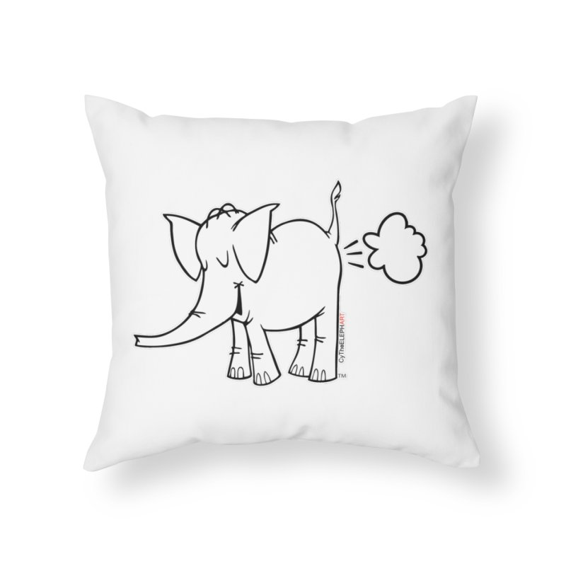 Cy The ElephArt Home Throw Pillow by Cy The Elephart's phArtist Shop
