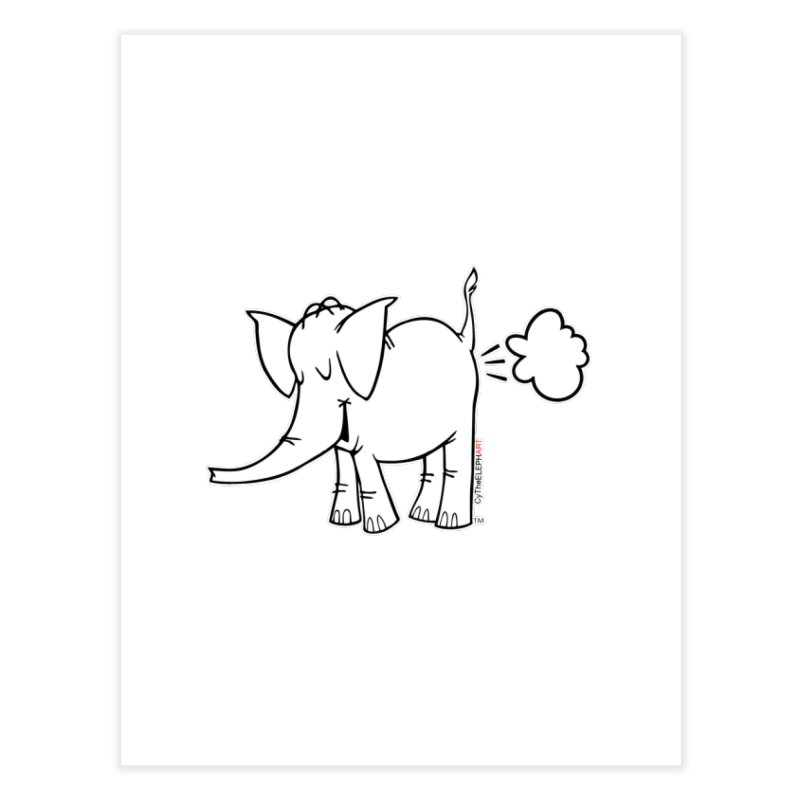 Cy The ElephArt Home Fine Art Print by Cy The Elephart's phArtist Shop