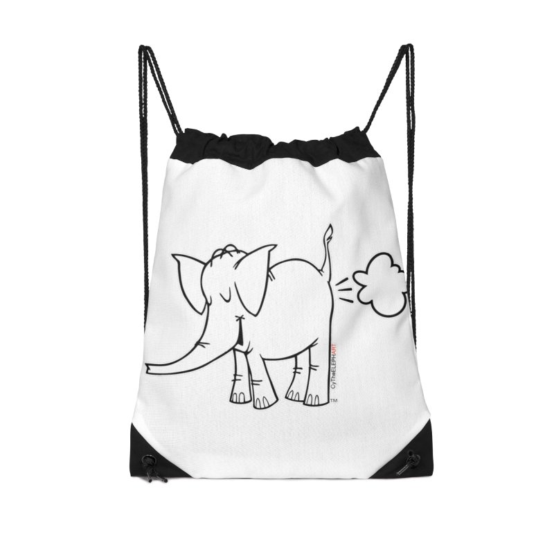 Cy The ElephArt Accessories Drawstring Bag Bag by Cy The Elephart's phArtist Shop