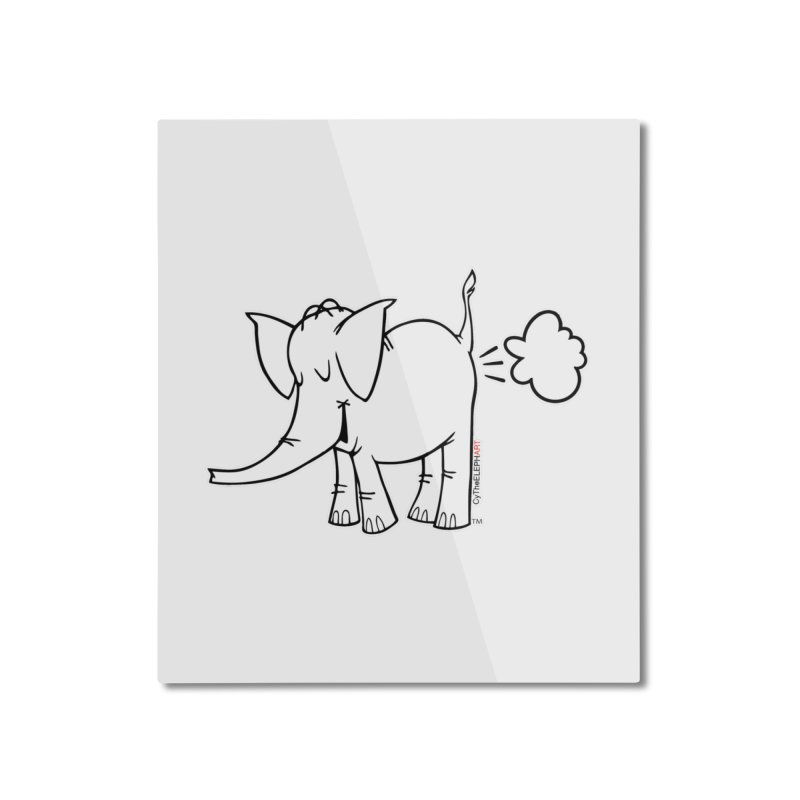 Cy The ElephArt Home Mounted Aluminum Print by Cy The Elephart's phArtist Shop