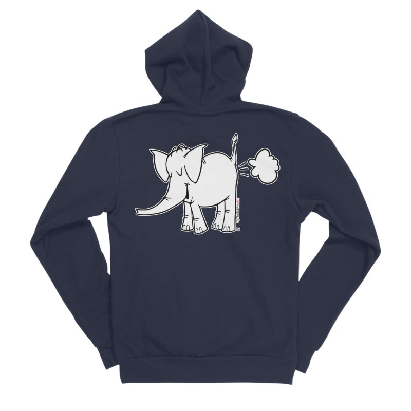 Cy The ElephArt Women's Sponge Fleece Zip-Up Hoody by Cy The Elephart's phArtist Shop