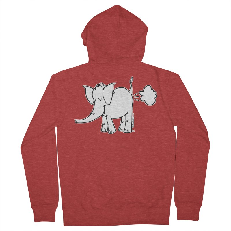 Cy The ElephArt Women's French Terry Zip-Up Hoody by Cy The Elephart's phArtist Shop