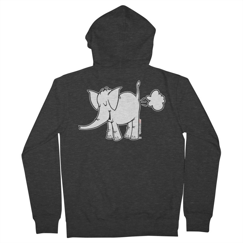 Cy The ElephArt Men's French Terry Zip-Up Hoody by Cy The Elephart's phArtist Shop