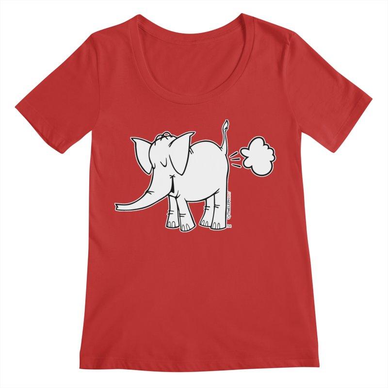 Cy The ElephArt Women's Regular Scoop Neck by Cy The Elephart's phArtist Shop