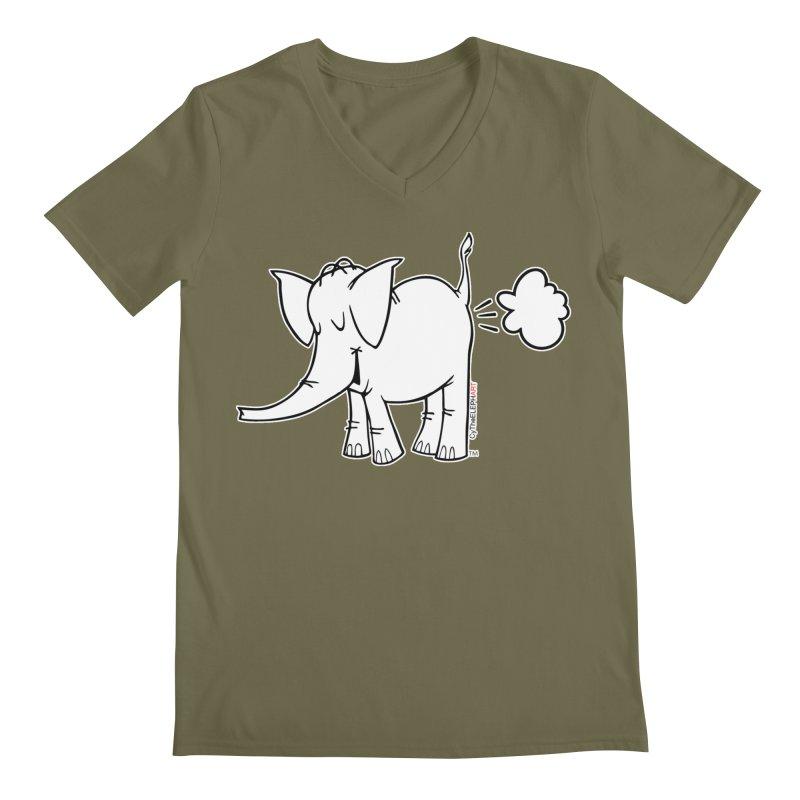 Cy The ElephArt Men's Regular V-Neck by Cy The Elephart's phArtist Shop