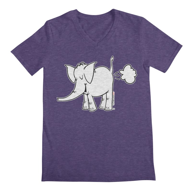 Cy The ElephArt Men's Regular V-Neck by Cy The Elephart's phArtist Shop