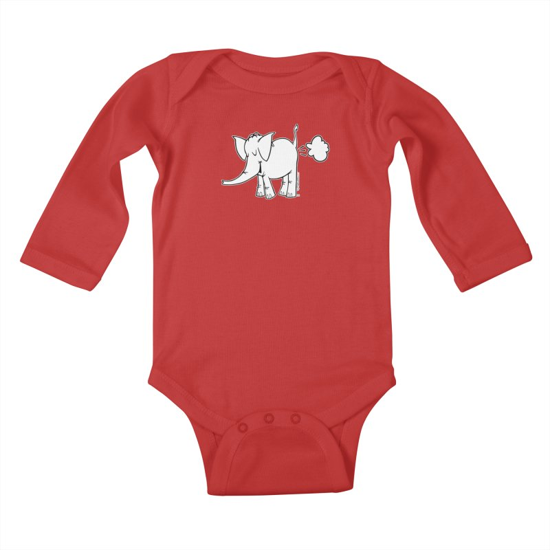 Cy The ElephArt Kids Baby Longsleeve Bodysuit by Cy The Elephart's phArtist Shop