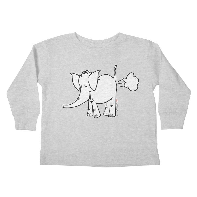 Cy The ElephArt Kids Toddler Longsleeve T-Shirt by Cy The Elephart's phArtist Shop