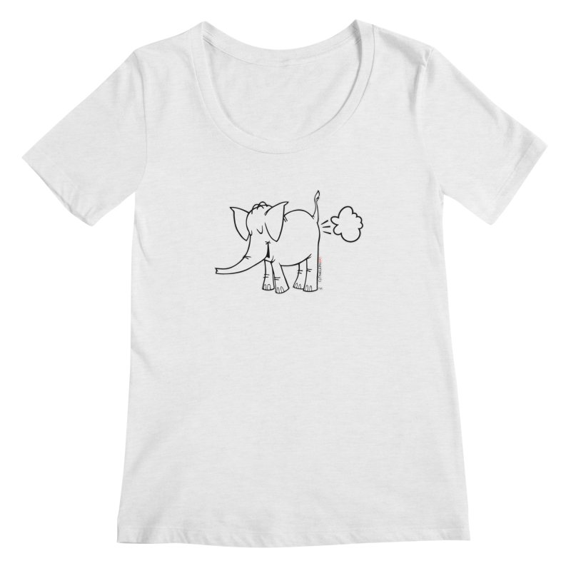 Cy The ElephArt Women's Scoop Neck by Cy The Elephart's phArtist Shop