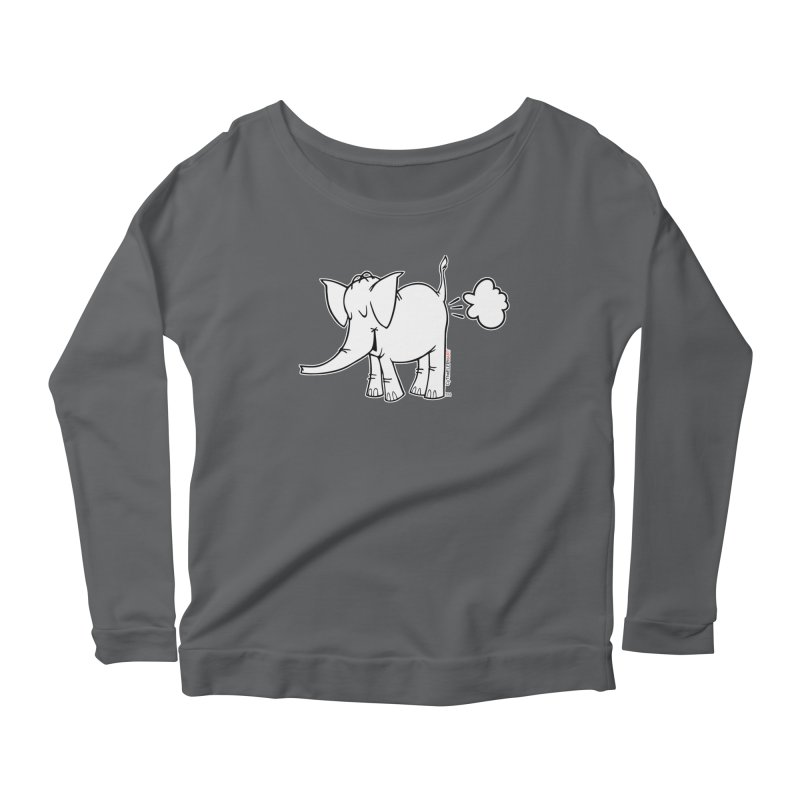 Cy The ElephArt Women's Scoop Neck Longsleeve T-Shirt by Cy The Elephart's phArtist Shop