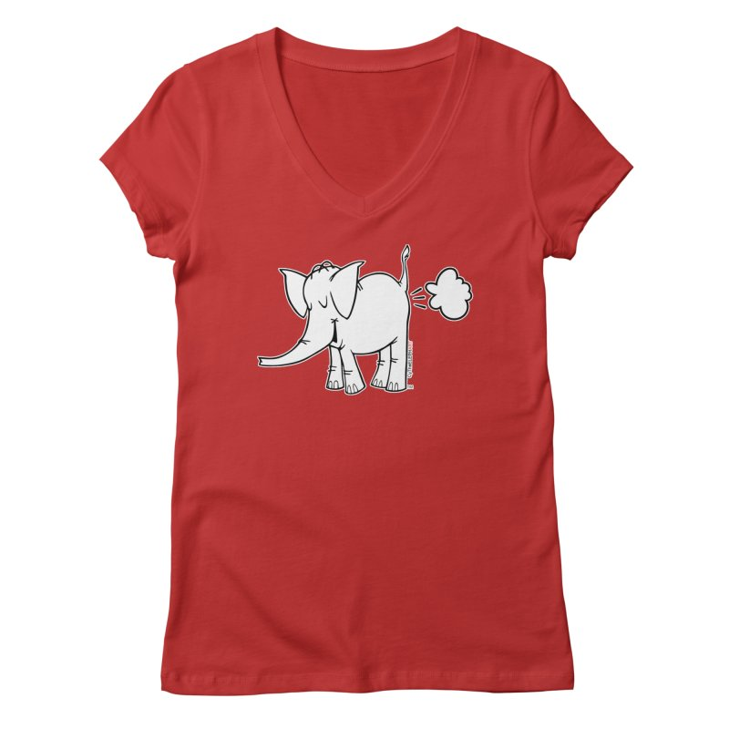 Cy The ElephArt Women's Regular V-Neck by Cy The Elephart's phArtist Shop