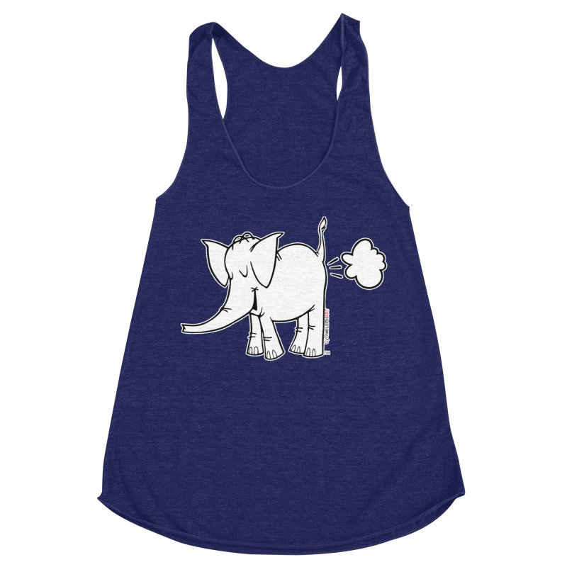 Cy The ElephArt Women's Racerback Triblend Tank by Cy The Elephart's phArtist Shop