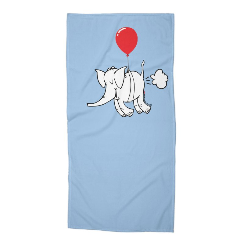 Cy & The Red Balloon Accessories Beach Towel by Cy The Elephart's phArtist Shop