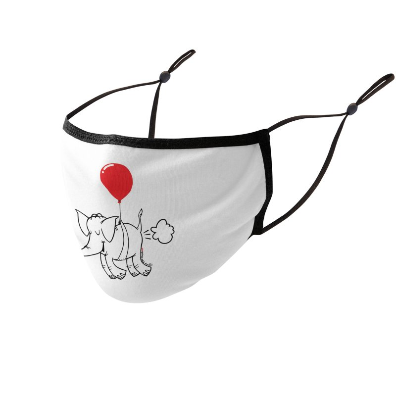 Cy & The Red Balloon Accessories Face Mask by Cy The Elephart's phArtist Shop