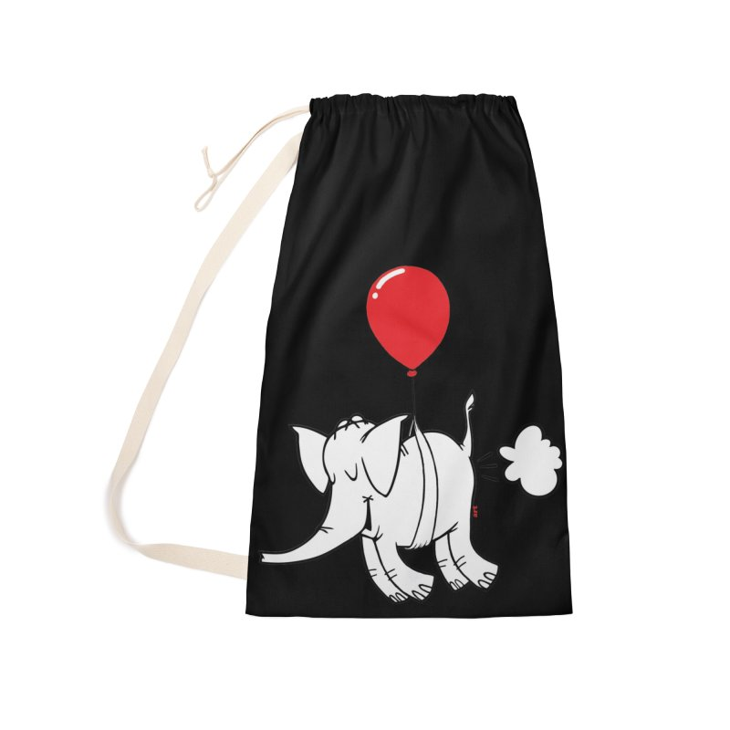 Cy & The Red Balloon Accessories Laundry Bag Bag by Cy The Elephart's phArtist Shop