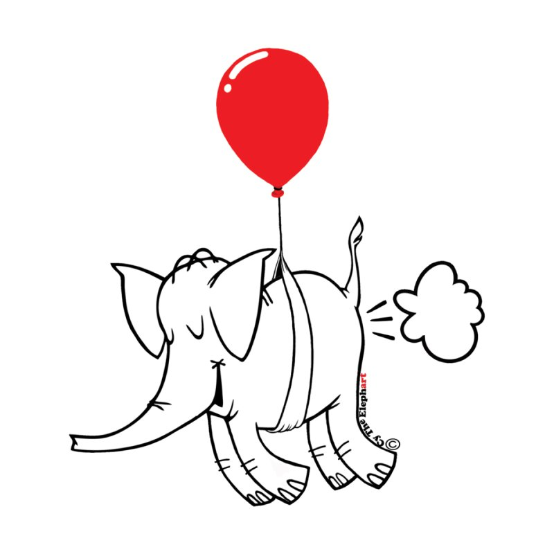 Cy & The Red Balloon Home Mounted Acrylic Print by Cy The Elephart's phArtist Shop