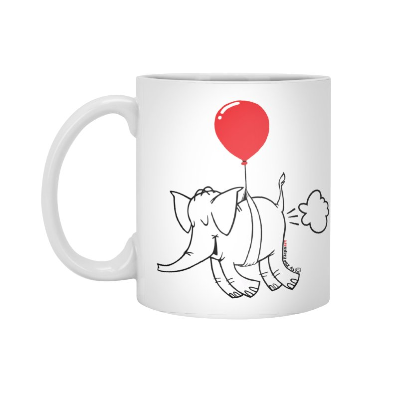 Cy & The Red Balloon Accessories Mug by Cy The Elephart's phArtist Shop