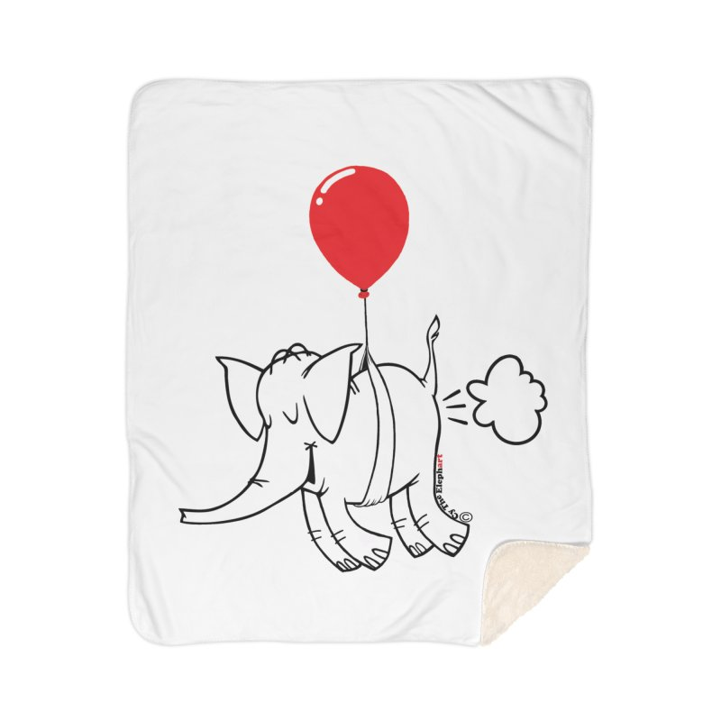 Cy & The Red Balloon Home Sherpa Blanket Blanket by Cy The Elephart's phArtist Shop