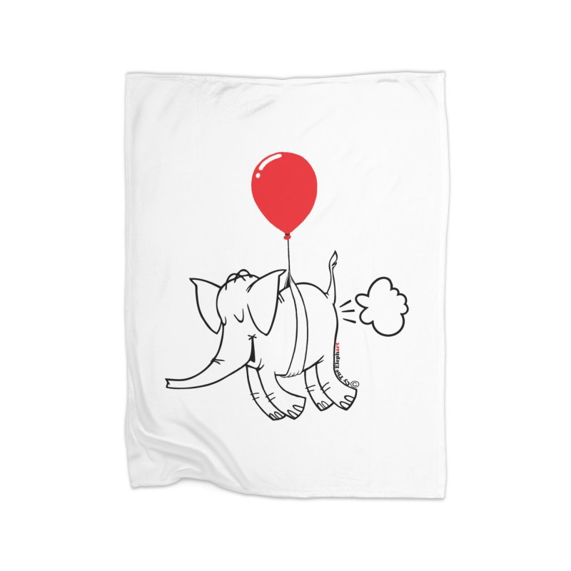 Cy & The Red Balloon Home Fleece Blanket Blanket by Cy The Elephart's phArtist Shop