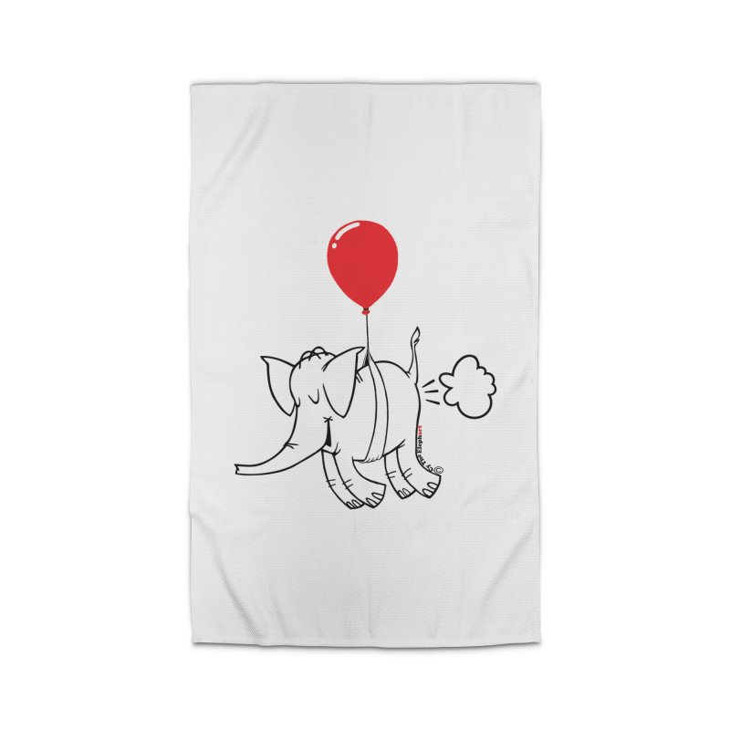 Cy & The Red Balloon Home Rug by Cy The Elephart's phArtist Shop