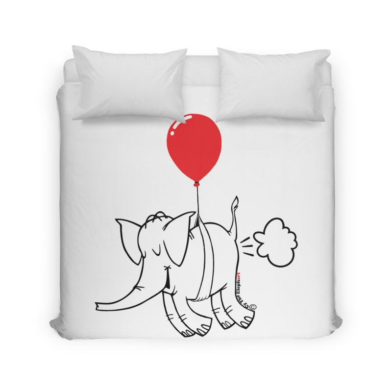 Cy & The Red Balloon Home Duvet by Cy The Elephart's phArtist Shop