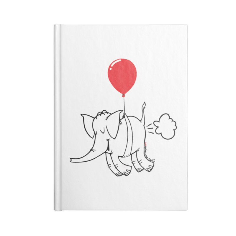 Cy & The Red Balloon Accessories Blank Journal Notebook by Cy The Elephart's phArtist Shop