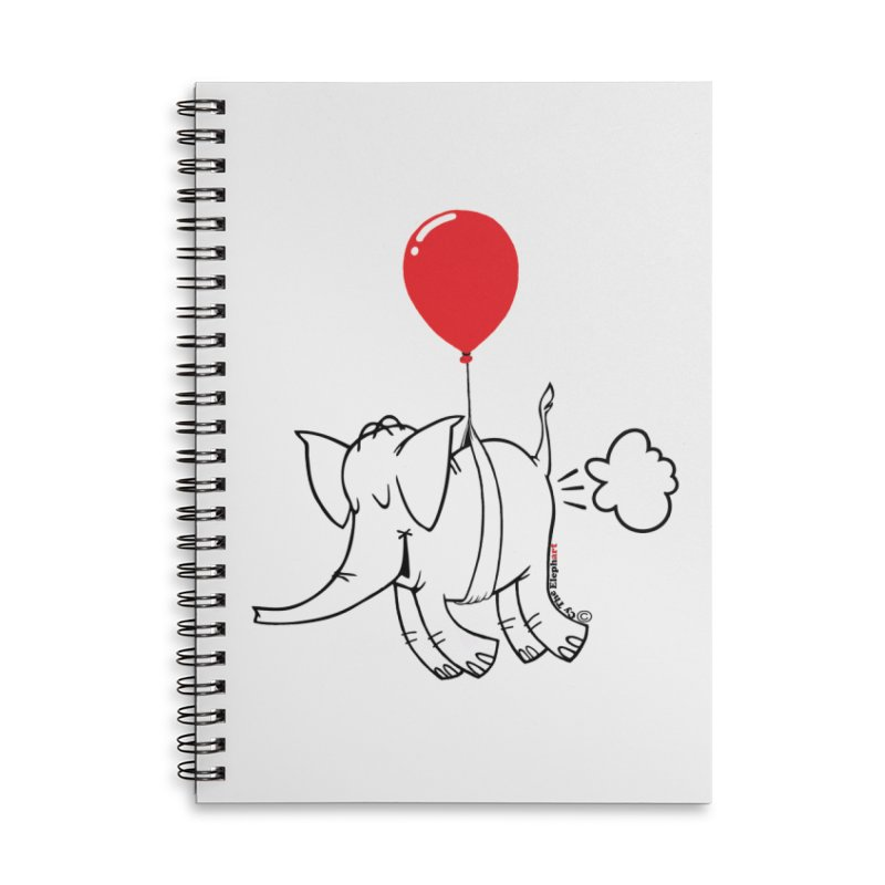 Cy & The Red Balloon Accessories Lined Spiral Notebook by Cy The Elephart's phArtist Shop