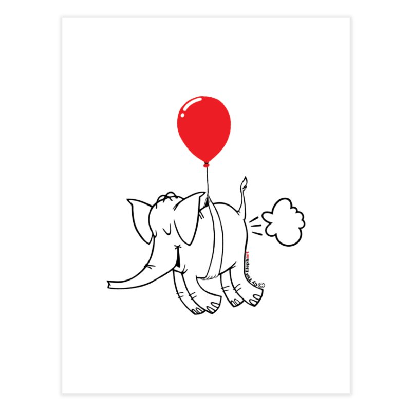 Cy & The Red Balloon Home Fine Art Print by Cy The Elephart's phArtist Shop