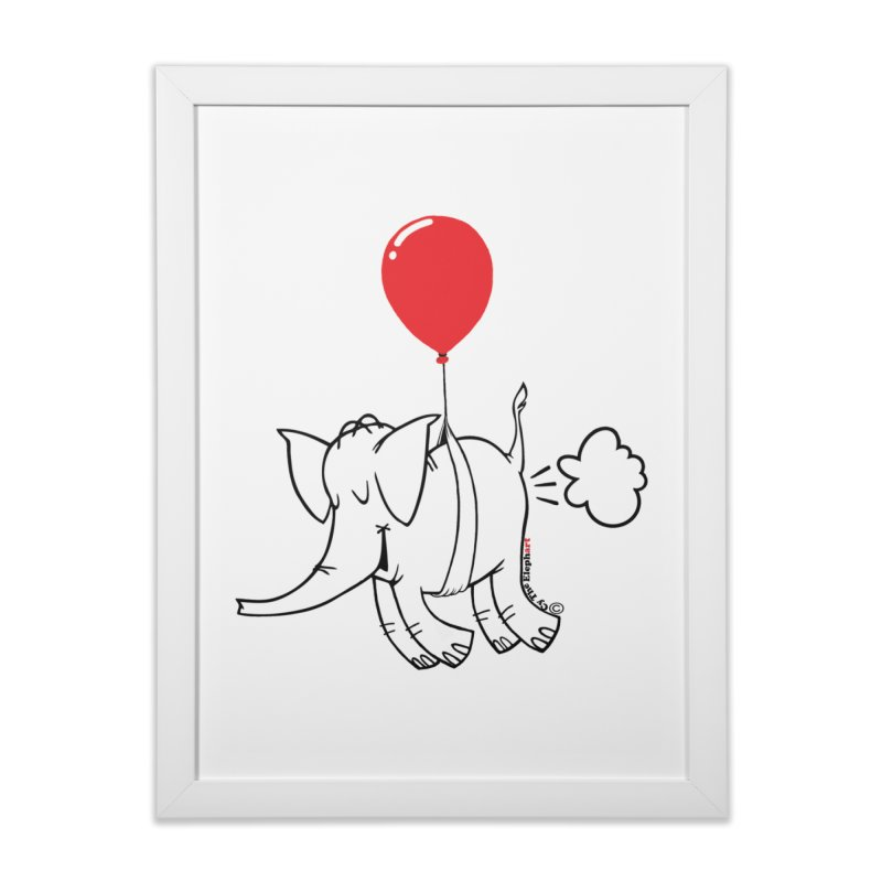 Cy & The Red Balloon Home Framed Fine Art Print by Cy The Elephart's phArtist Shop