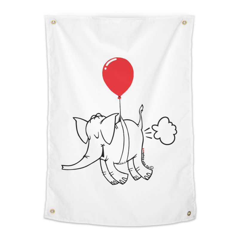 Cy & The Red Balloon Home Tapestry by Cy The Elephart's phArtist Shop