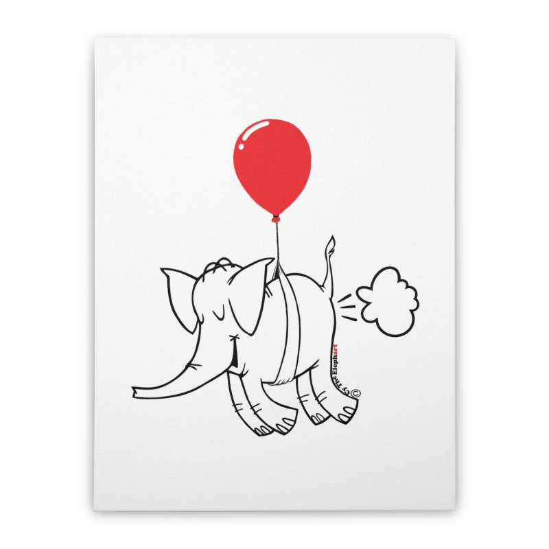 Cy & The Red Balloon Home Stretched Canvas by Cy The Elephart's phArtist Shop