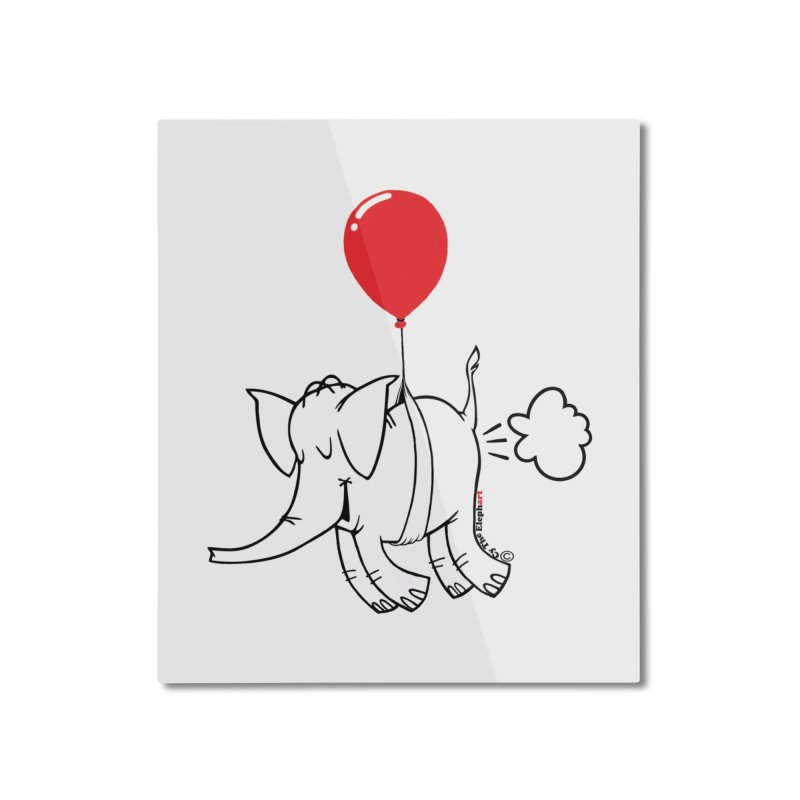 Cy & The Red Balloon Home Mounted Aluminum Print by Cy The Elephart's phArtist Shop