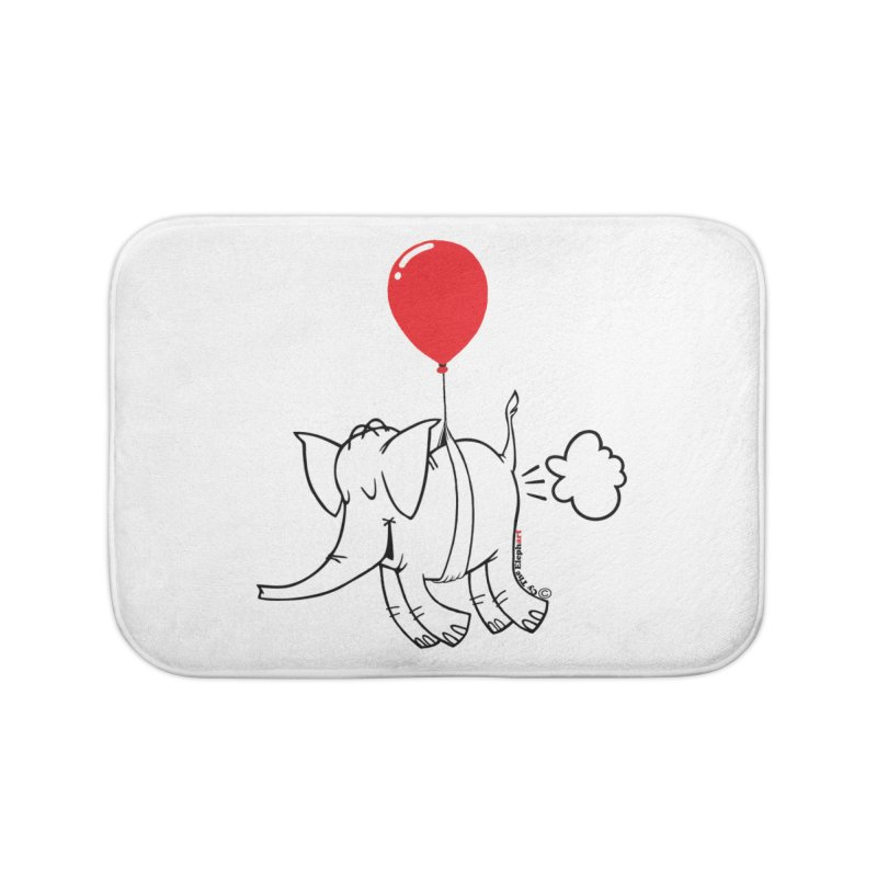 Cy & The Red Balloon Home Bath Mat by Cy The Elephart's phArtist Shop