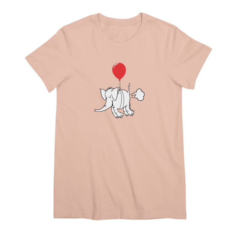Cy & The Red Balloon Women's Premium T-Shirt by Cy The Elephart's phArtist Shop