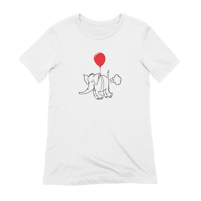 Cy & The Red Balloon Women's Extra Soft T-Shirt by Cy The Elephart's phArtist Shop