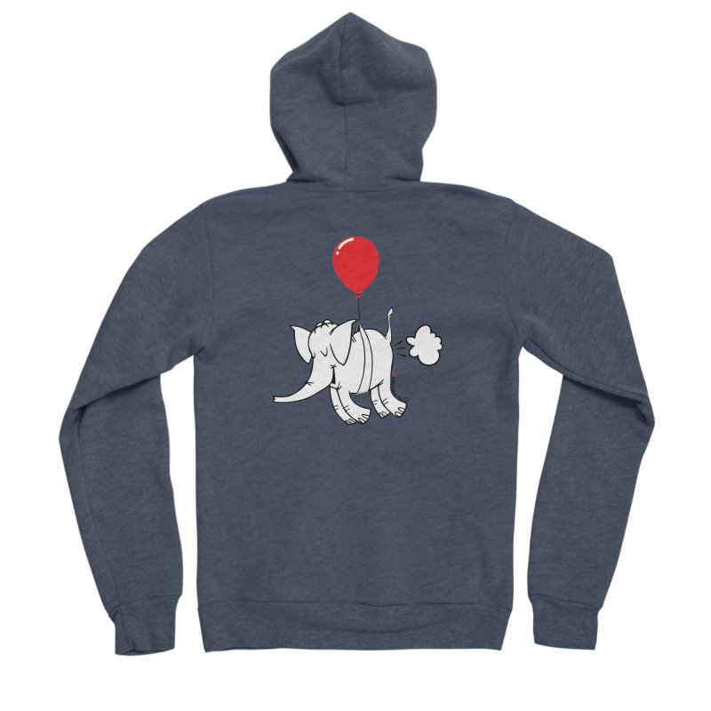 Cy & The Red Balloon Men's Sponge Fleece Zip-Up Hoody by Cy The Elephart's phArtist Shop