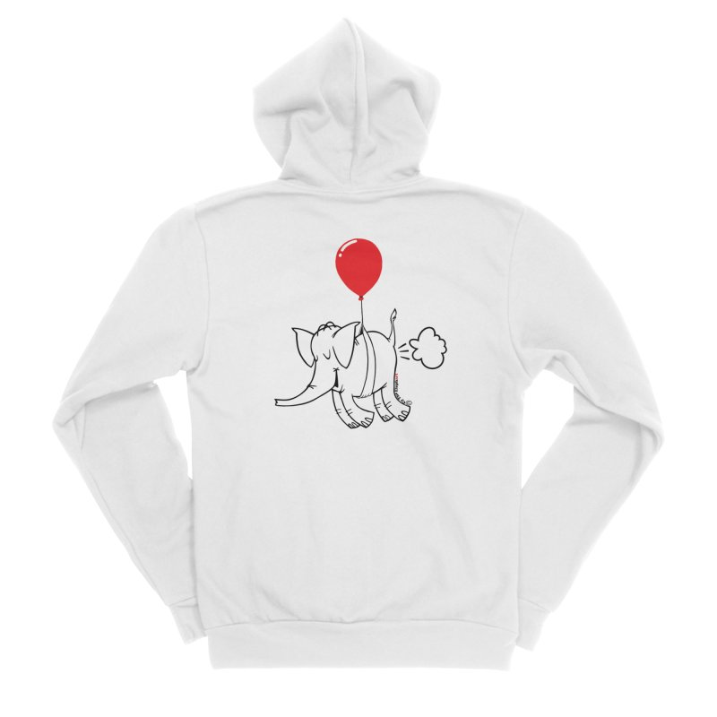 Cy & The Red Balloon Women's Sponge Fleece Zip-Up Hoody by Cy The Elephart's phArtist Shop