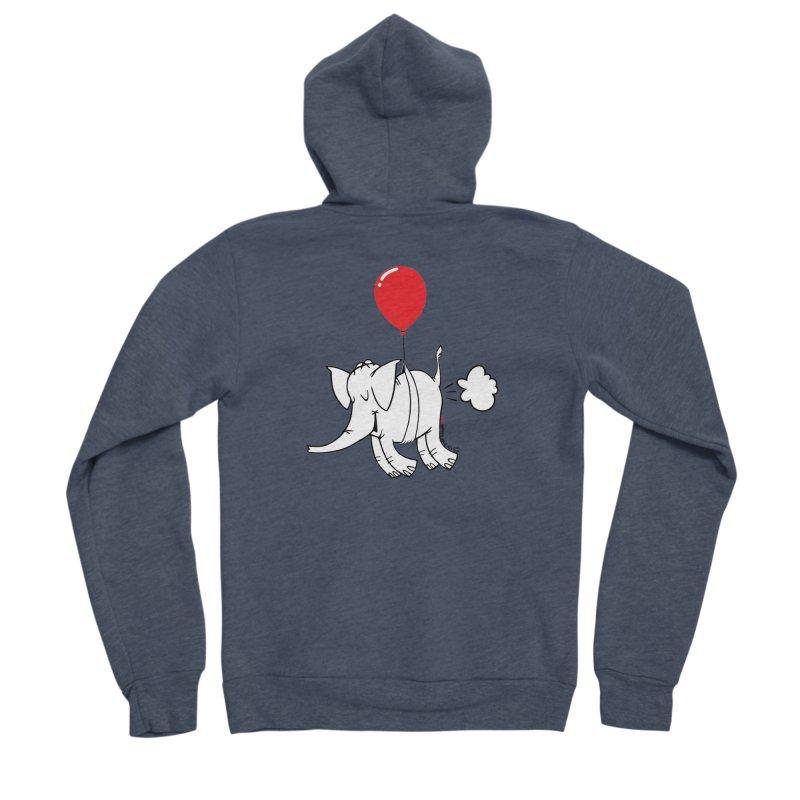 Cy & The Red Balloon Women's Sponge Fleece Zip-Up Hoody by Cy The Elephart's phArtist Shop