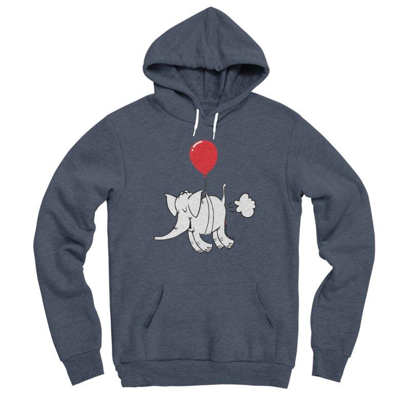 Cy & The Red Balloon Men's Sponge Fleece Pullover Hoody by Cy The Elephart's phArtist Shop