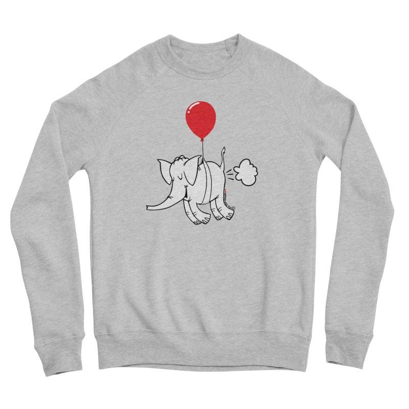 Cy & The Red Balloon Men's Sponge Fleece Sweatshirt by Cy The Elephart's phArtist Shop
