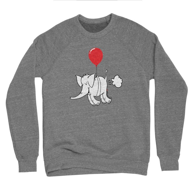 Cy & The Red Balloon Women's Sponge Fleece Sweatshirt by Cy The Elephart's phArtist Shop