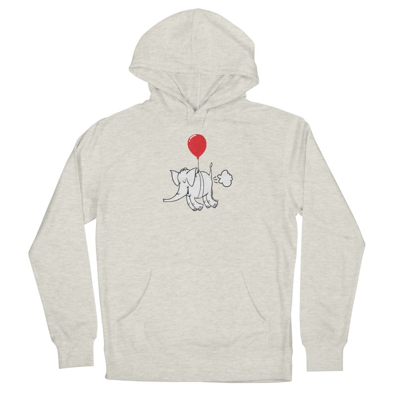 Cy & The Red Balloon Women's French Terry Pullover Hoody by Cy The Elephart's phArtist Shop