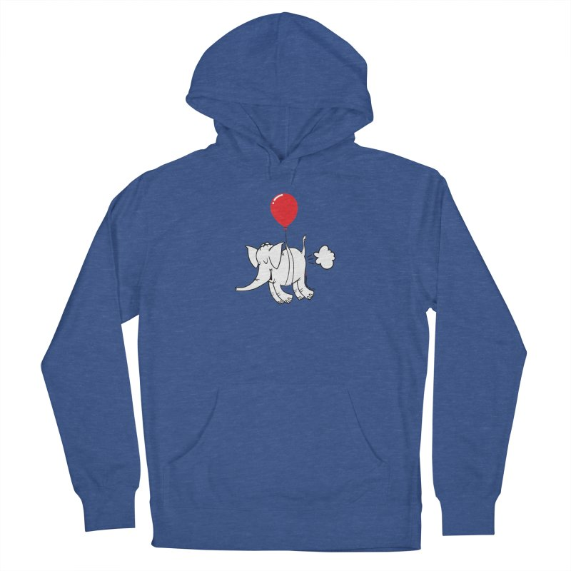 Cy & The Red Balloon Men's French Terry Pullover Hoody by Cy The Elephart's phArtist Shop